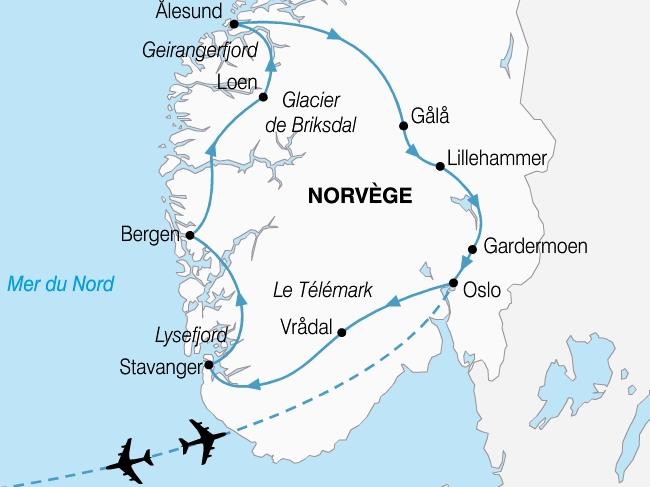 carte norvege grand tour fjords 495491
