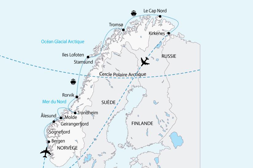 carte norvege les plus beau littoral sh 2018_236 511831