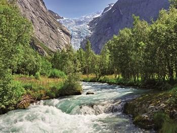 vignette Norvege glacier briksdal