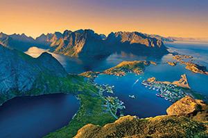 (vignette) Vignette Norvege Lofoten Vue aerienne fjord  it