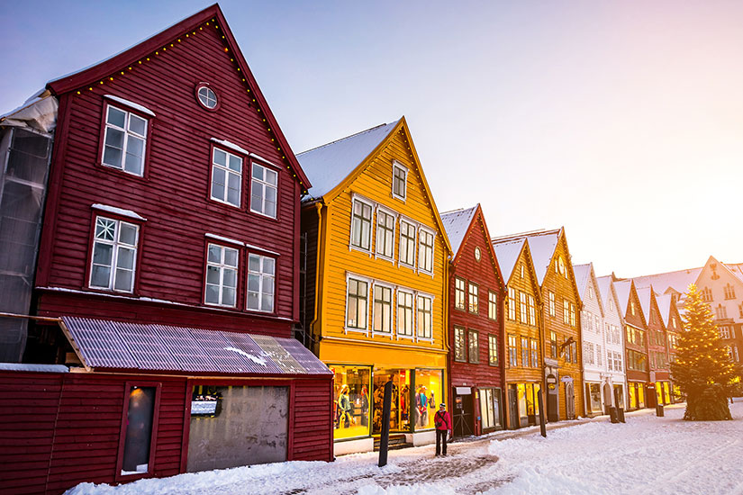image Norvege Bergen hiver  fo
