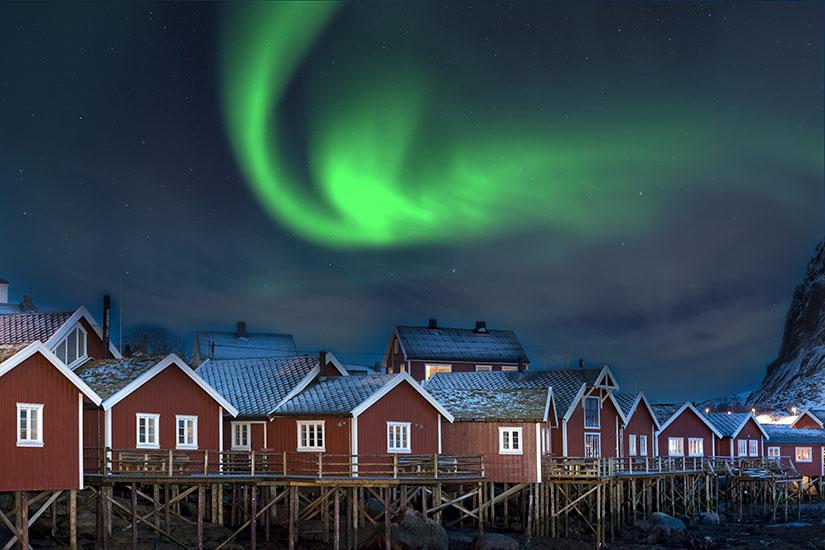 image Norvege Lofoten Northern Lights  fo