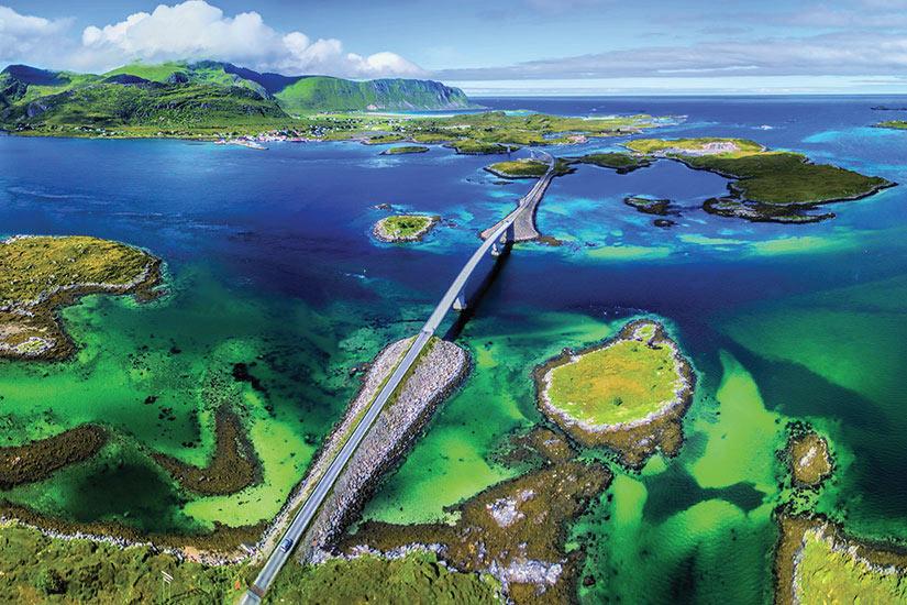 image Norvege Ponts Lofoten Panorama  it