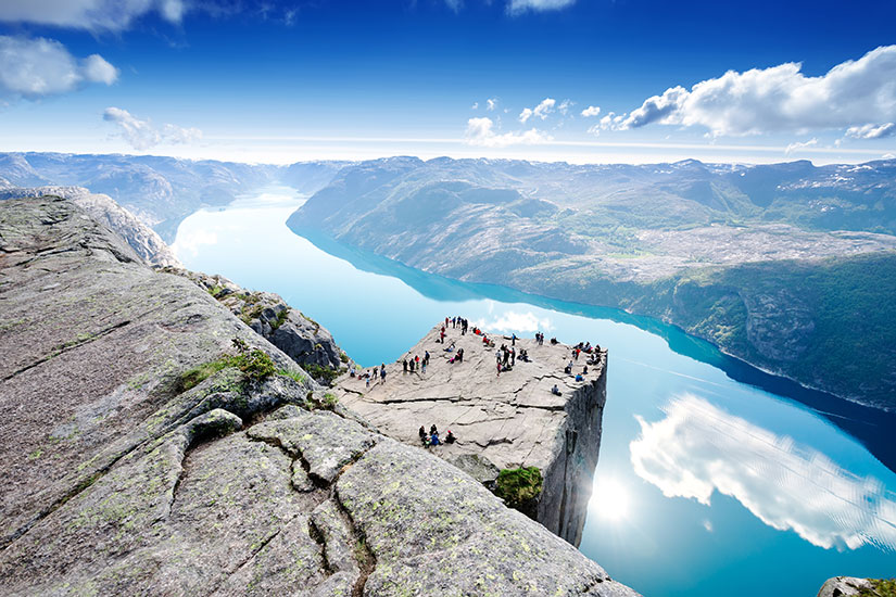 image Norvege Preikestolen Lysefjord  fo