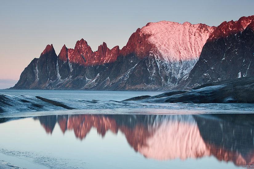 image Norvege Tromso Tungenesset coucher soleil  it