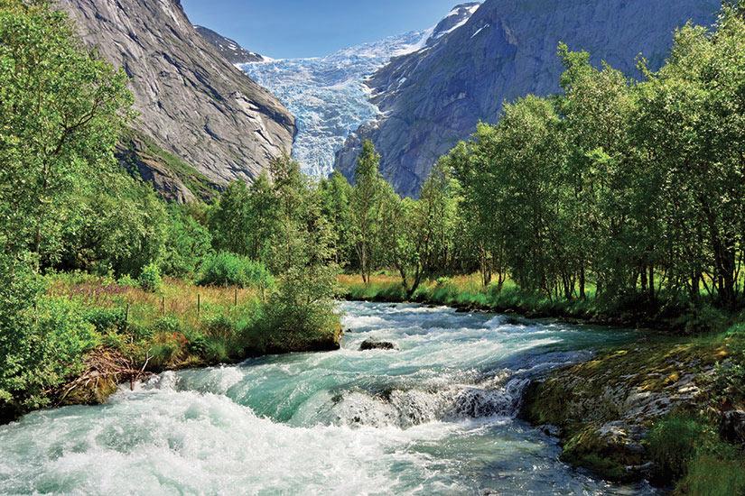 image Norvege vue glacier Briksdalsbreen  it