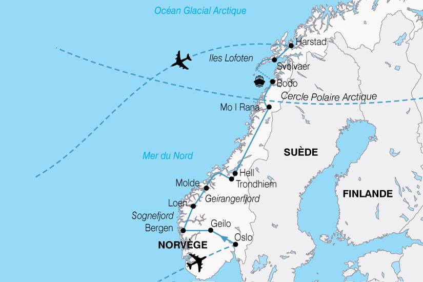 carte Europe Norvege Majestueux Fjords 451894