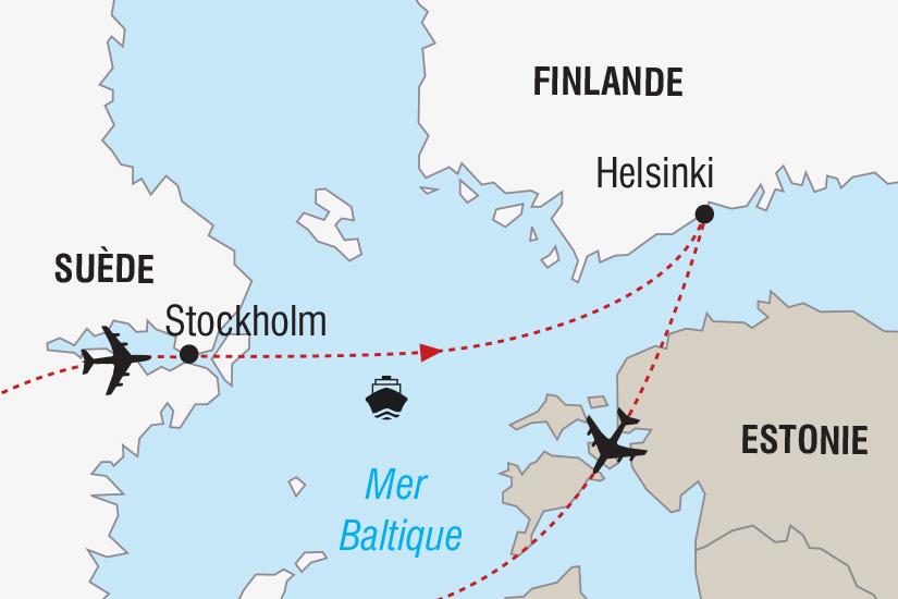 carte Finlande Suede Nouvel An en Mer Baltique_306 861844