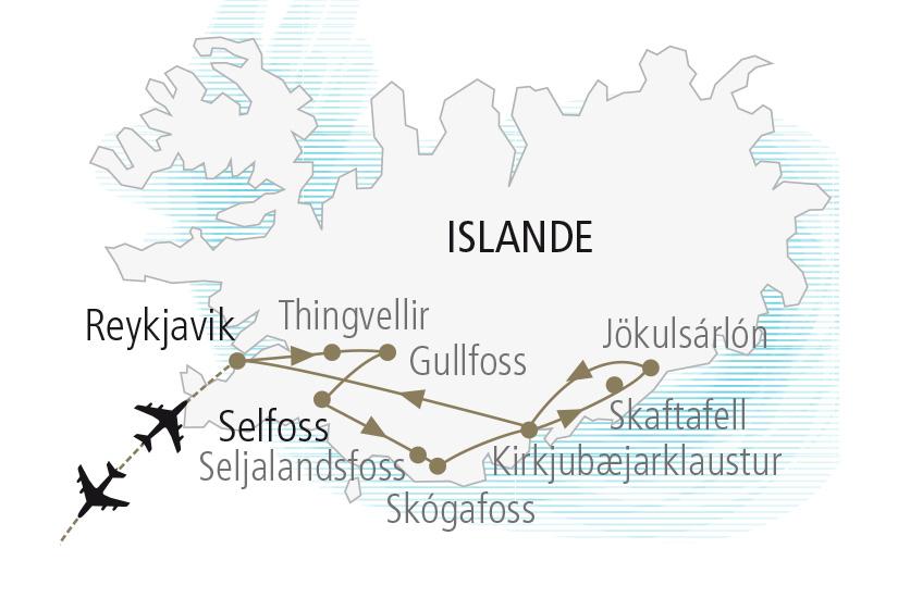 carte Islande Saga Islandaises et Aurores Boreales Nordiska 19 20_307 339444