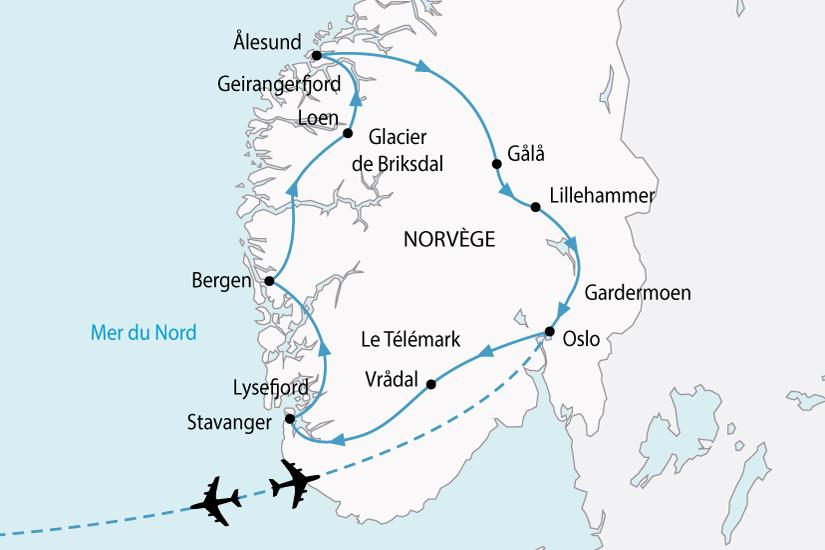 carte Norvege GrandTourFjord 119714