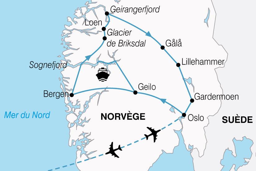 carte Norvege Plus Beaux Fjords 752337