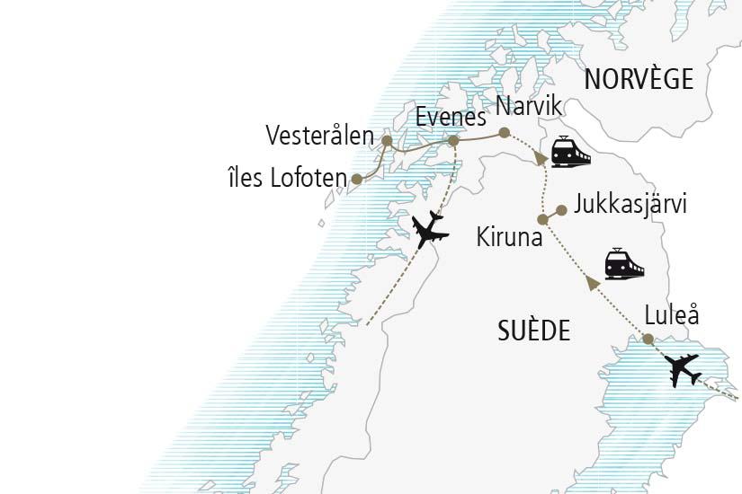 carte Norvege Suede La Laponie L Hiver lui va comme un gant Nordiska 21 22_378 317458